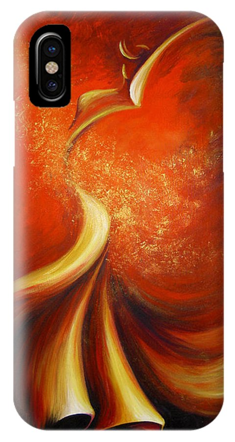 Figure Study IPhone X Case featuring the painting Mystery Dance by Dina Dargo