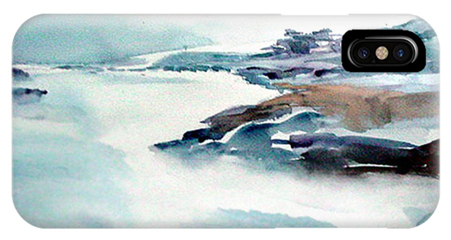 River IPhone Case featuring the painting Mystic River by Anil Nene