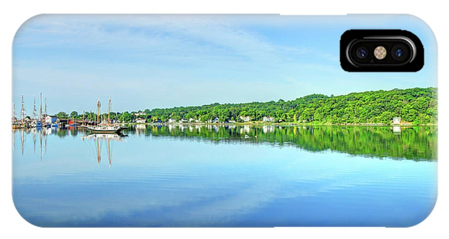 Connecticut IPhone X Case featuring the photograph Mystic Seaport Connnecticut by Denis Tangney Jr