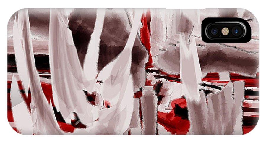 Digital IPhone X Case featuring the digital art Mystisches Aegypten 2 by Ilona Burchard