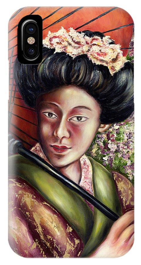Japanese IPhone Case featuring the painting Nadeshiko by Hiroko Sakai