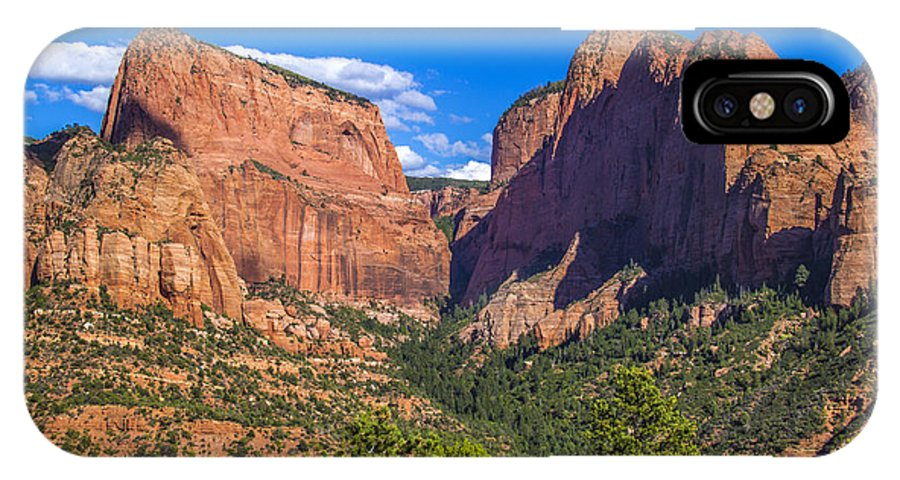 Kolob IPhone X Case featuring the photograph Nagunt Mesa by Roberta Bragan