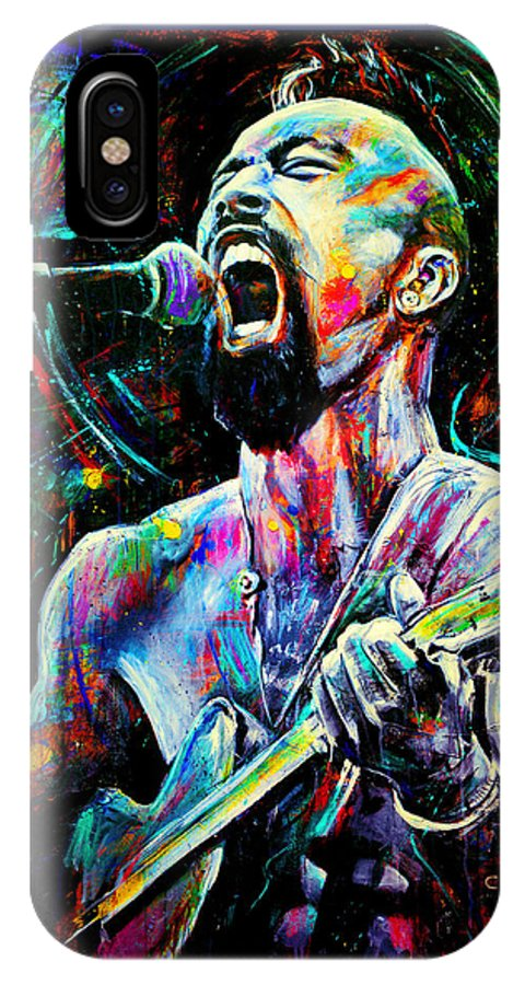 Robyn Chance IPhone X Case featuring the painting Nahko by Robyn Chance