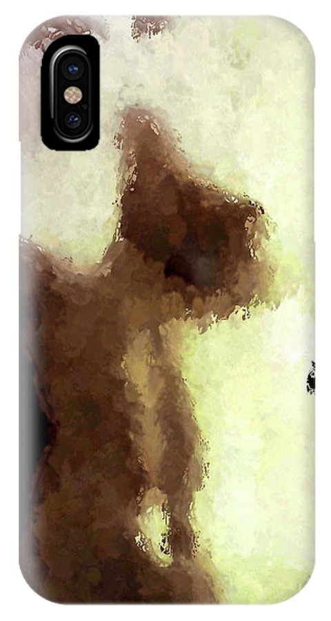 Nude Female Torso IPhone X Case featuring the painting Naked Female Torso by Joan Reese