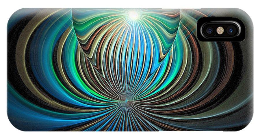Digital Art IPhone X Case featuring the digital art Namaste by Amanda Moore
