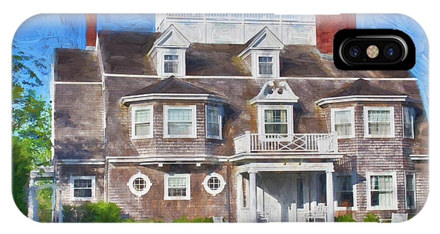 IPhone X / XS Case featuring the photograph Nantucket Architecture Series 28 by Carlos Diaz