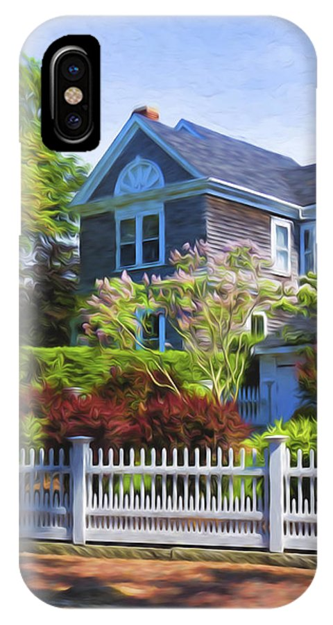 Nantucket IPhone X Case featuring the photograph Nantucket Architecture Series 7 - Y1 by Carlos Diaz