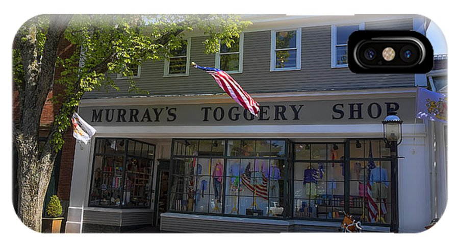 Nantucket IPhone X Case featuring the photograph Nantucket Murrays Toggery Shop - Y1 by Carlos Diaz
