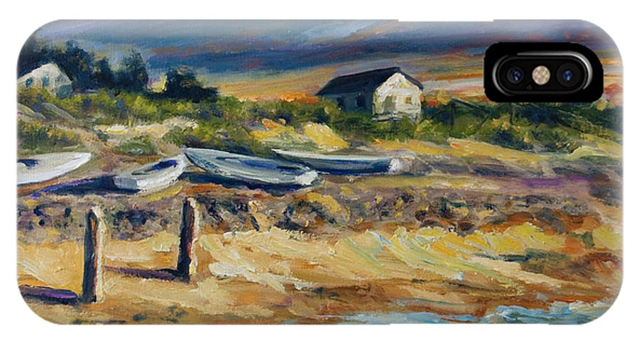 Stormy Clouds IPhone Case featuring the painting Nantucket by Rick Nederlof