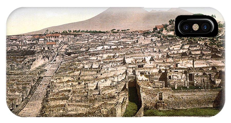 1890 IPhone X Case featuring the photograph Naples: Mt. Vesuvius by Granger