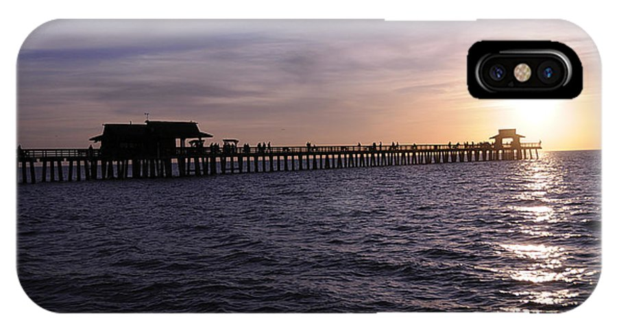 Naples IPhone X Case featuring the photograph Naples Pier Sundown by Keith Lovejoy