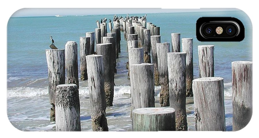 Ocean IPhone X Case featuring the photograph Naples Pier by Tom Reynen