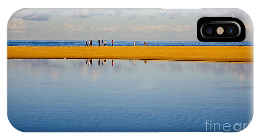 Dunes Lowry Sand Sky Reflection Sun Lifestyle Narrabeen Australia IPhone X Case featuring the photograph Narrabeen dunes by Sheila Smart Fine Art Photography