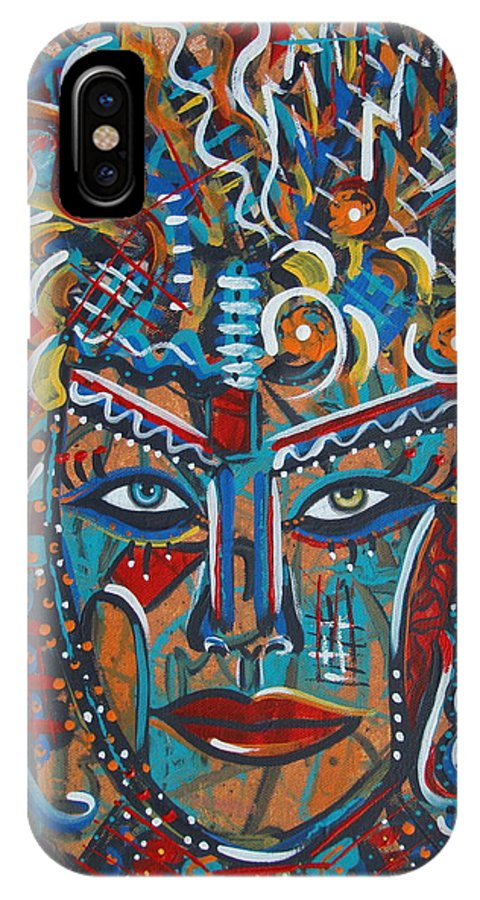 Abstract IPhone X Case featuring the painting Nataliana by Natalie Holland