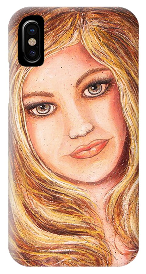 Self Portrait IPhone X Case featuring the painting Natalie Self Portrait by Natalie Holland