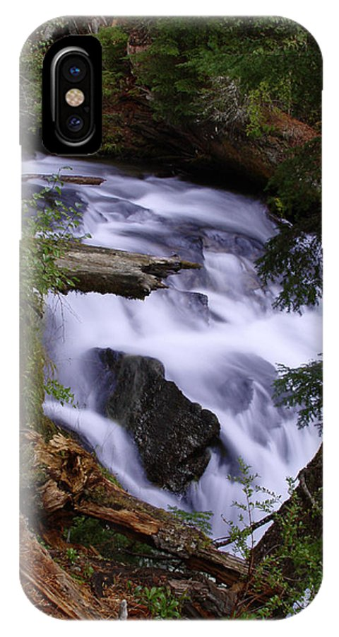 Waterfall IPhone X Case featuring the photograph National Creek Falls 03 by Peter Piatt