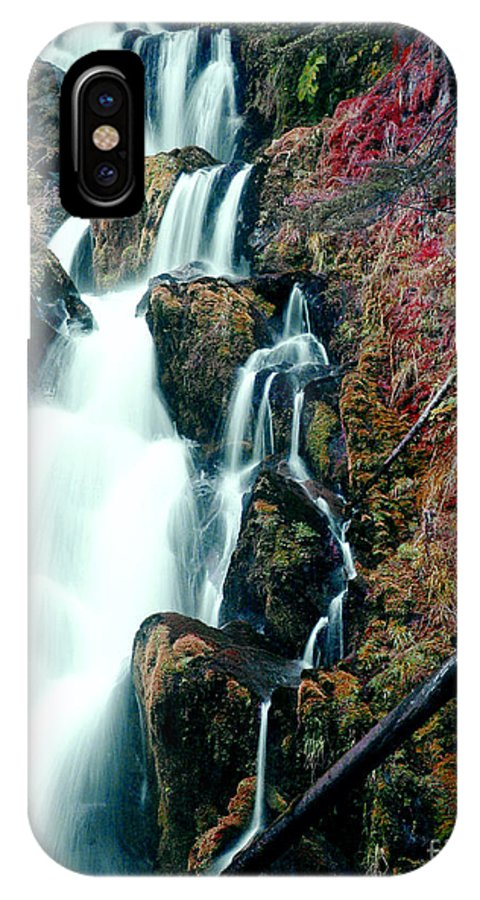 Waterfall IPhone X Case featuring the photograph National Creek Falls 07 by Peter Piatt