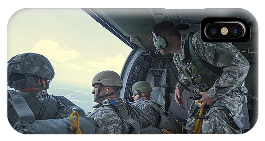 North Carolina National Guard IPhone X Case featuring the photograph National Guard Special Forces Await by Stocktrek Images