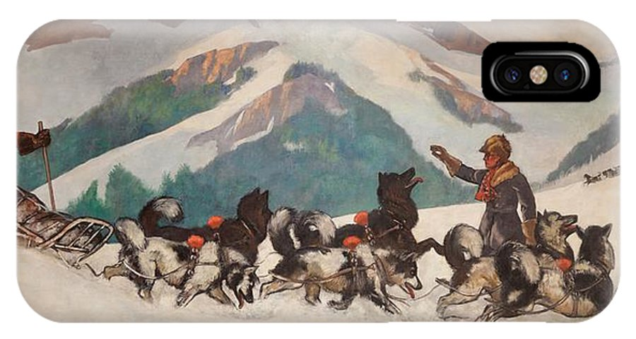 Painting IPhone X Case featuring the painting National Park Service - North Country by Mountain Dreams