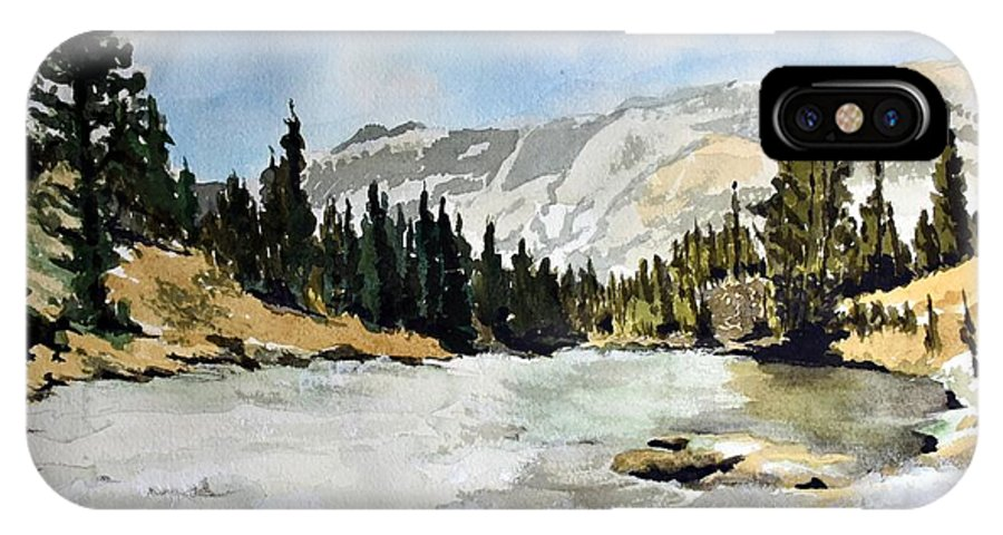 IPhone X Case featuring the painting National Parks landscape by Susan Moore