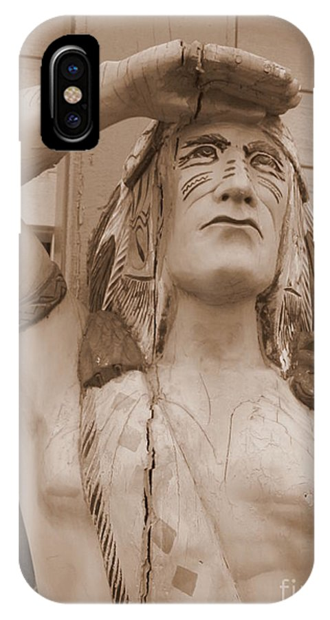 Native American IPhone X Case featuring the photograph Native American Statue In Toppenish by Carol Groenen