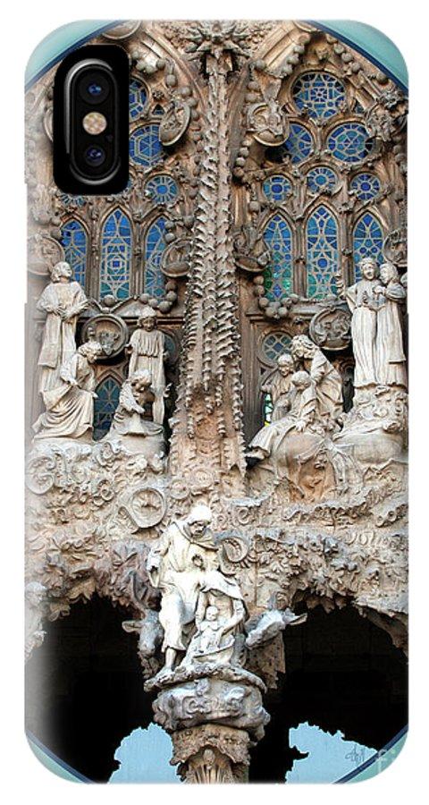 Nativity IPhone X Case featuring the photograph Nativity Barcelona by Victoria Harrington