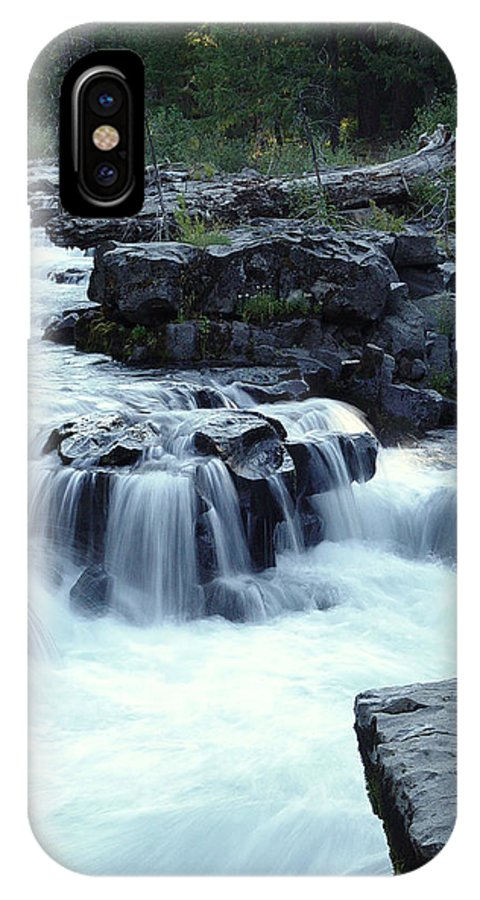 Waterfall IPhone X Case featuring the photograph Natural Bridges Falls 03 by Peter Piatt
