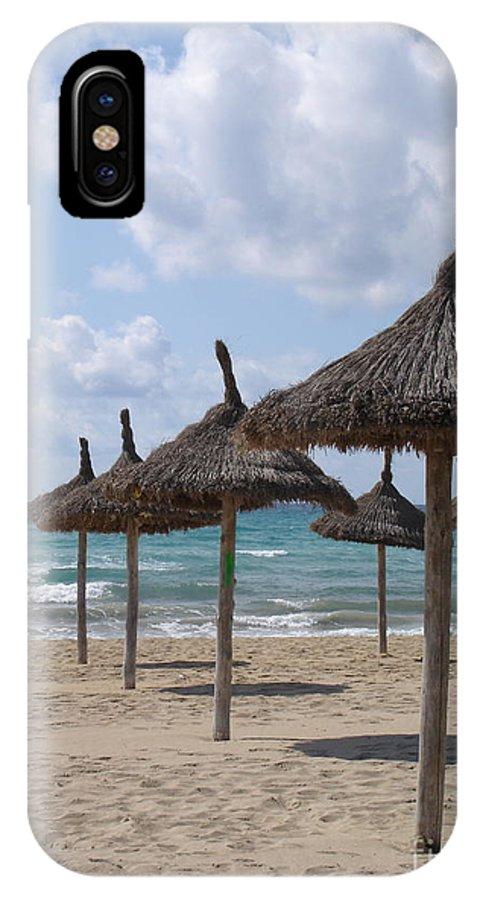 Beach IPhone X Case featuring the photograph Natural Umbrella by Chad Natti
