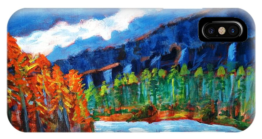 Mountains IPhone X Case featuring the painting Naturals by R B