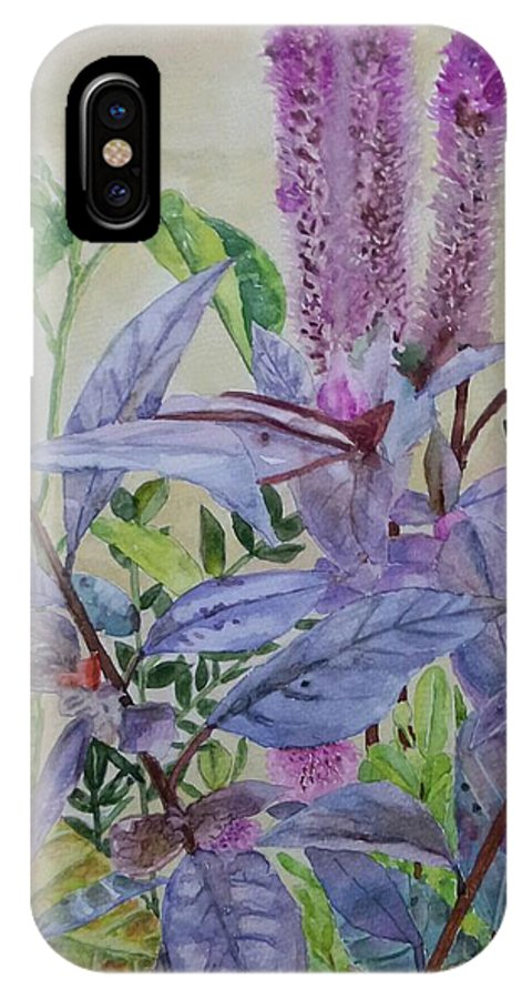 Plants IPhone X / XS Case featuring the painting Nature by Carissa Munoz