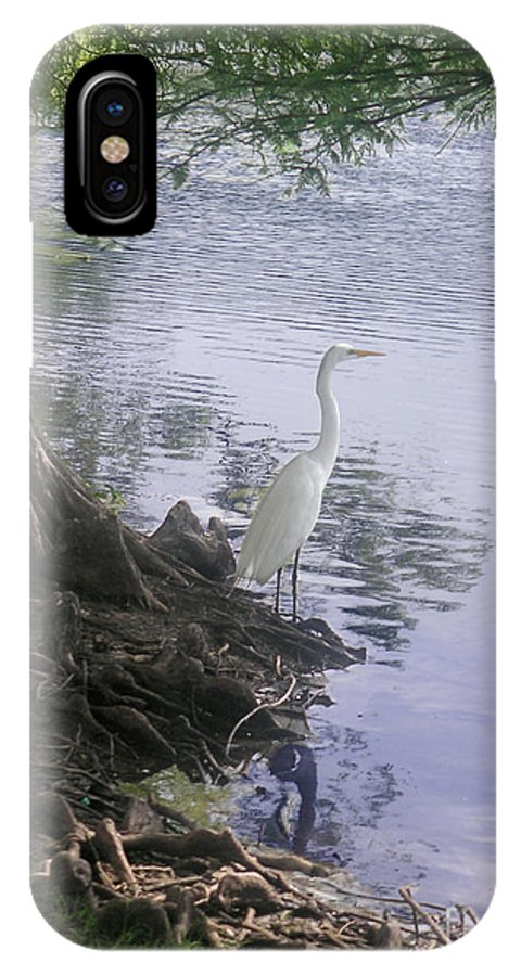 Nature IPhone X Case featuring the photograph Nature In The Wild - Musings By A Lake by Lucyna A M Green