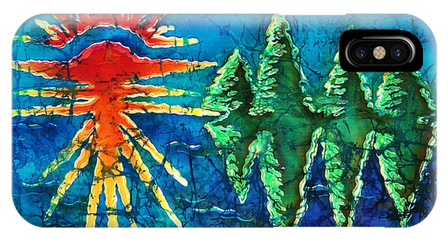 Trees IPhone Case featuring the painting Nature by Sue Duda