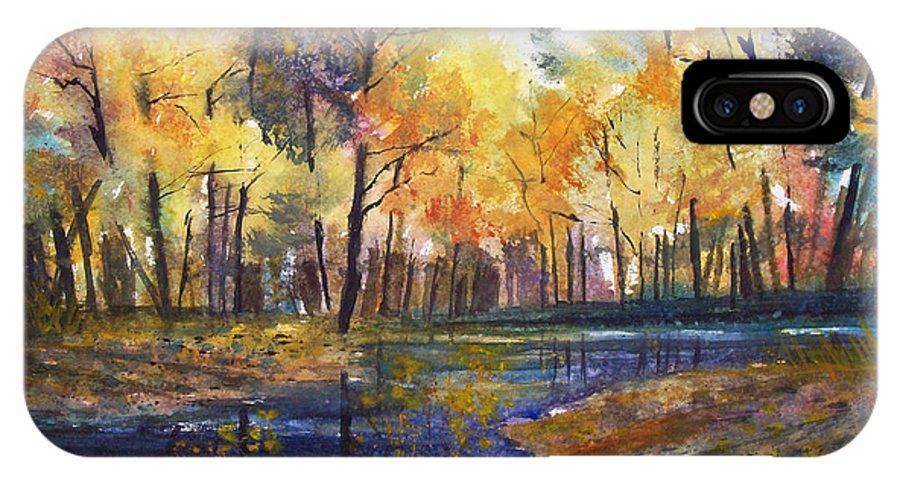 Ryan Radke IPhone X Case featuring the painting Nature's Glory by Ryan Radke