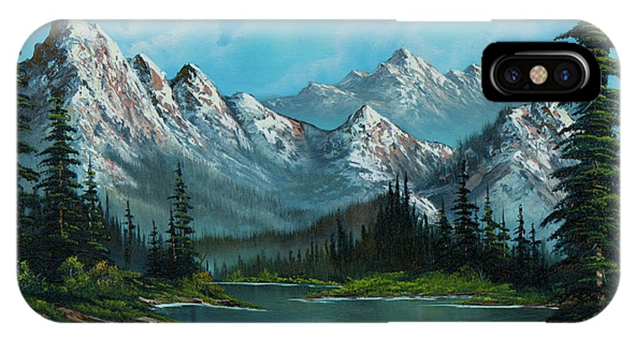 Landscape IPhone X Case featuring the painting Nature's Grandeur by Chris Steele