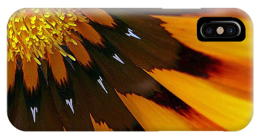 Macro IPhone X Case featuring the photograph Nature's Pinwheel by Marion Cullen
