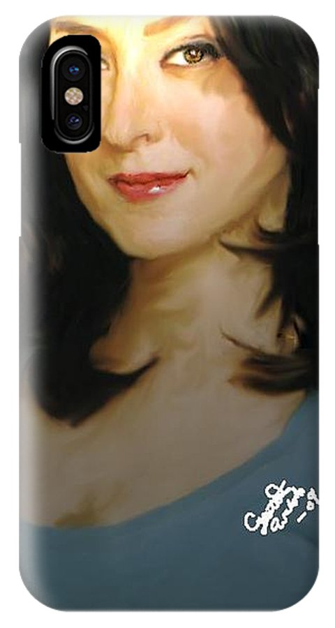 Ncis IPhone X Case featuring the painting Ncis Kate by Crystal Webb