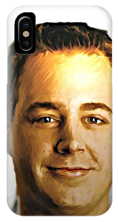 Mcgee.ncis.people Digital IPhone X Case featuring the photograph Ncis Mcgee 2 by Crystal Webb