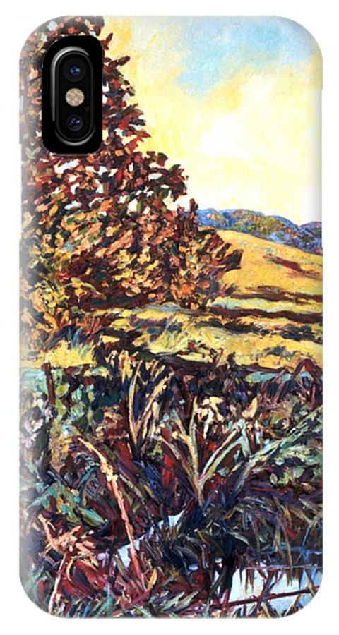 Landscape IPhone X Case featuring the painting Near Childress by Kendall Kessler