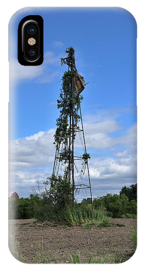 Windmill IPhone X Case featuring the photograph Nearly Naked by David Arment