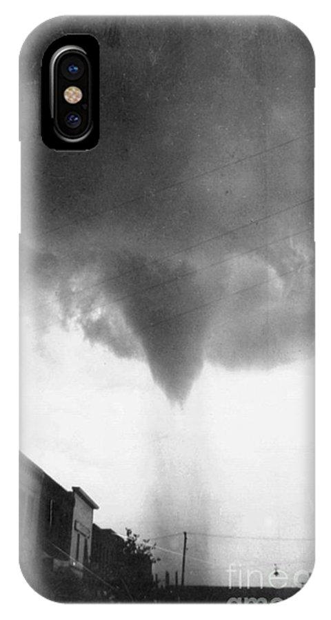 1911 IPhone X Case featuring the photograph Nebraska: Tornado, 1911 by Granger