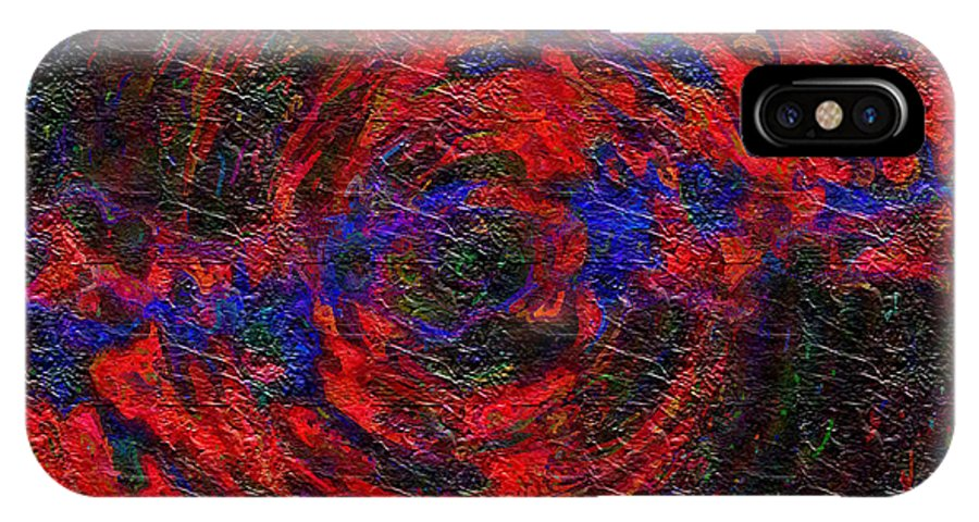 Digital IPhone Case featuring the digital art Nebula 1 by Charmaine Zoe