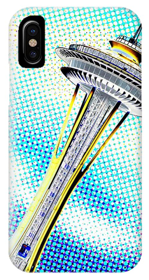 Seattle IPhone X Case featuring the photograph Needle In Newsprint by Tim Allen