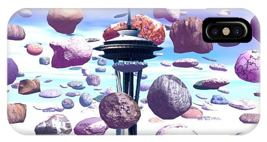 Seattle IPhone X Case featuring the photograph Needle Rocks by Tim Allen