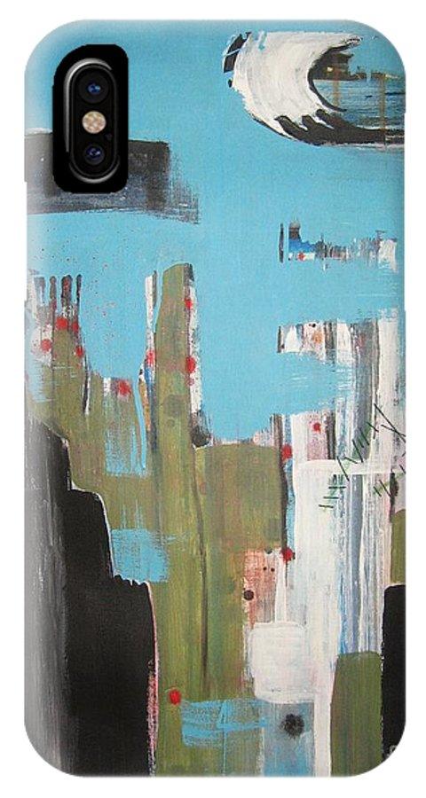 Abstract Paintings IPhone X / XS Case featuring the painting Neglected Area by Seon-Jeong Kim