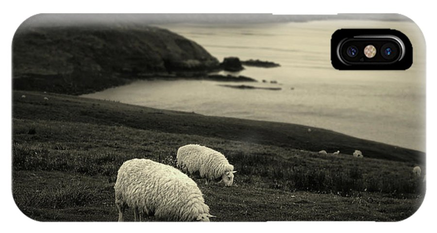 Sheep IPhone X Case featuring the photograph Neist Point by Jerry LoFaro