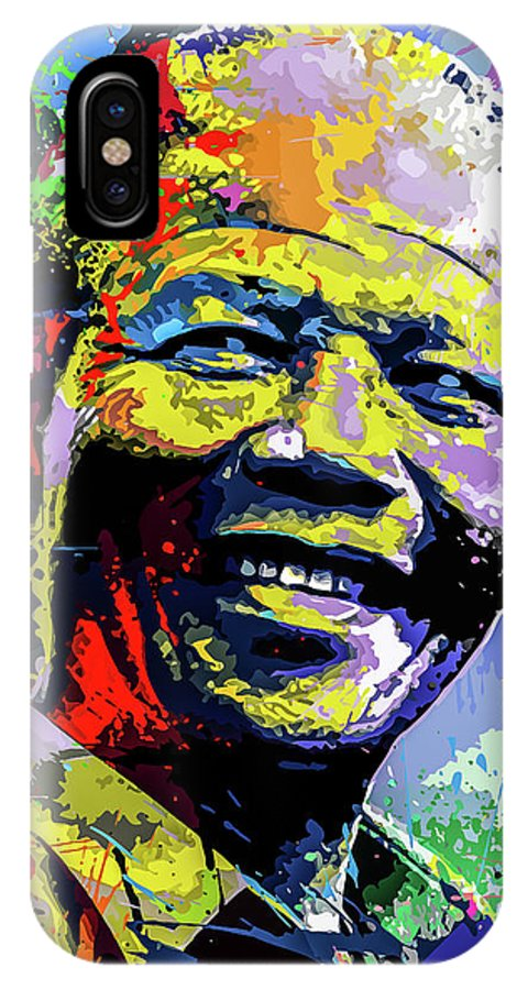 South IPhone X Case featuring the digital art Nelson Mandela Madiba by Anthony Mwangi