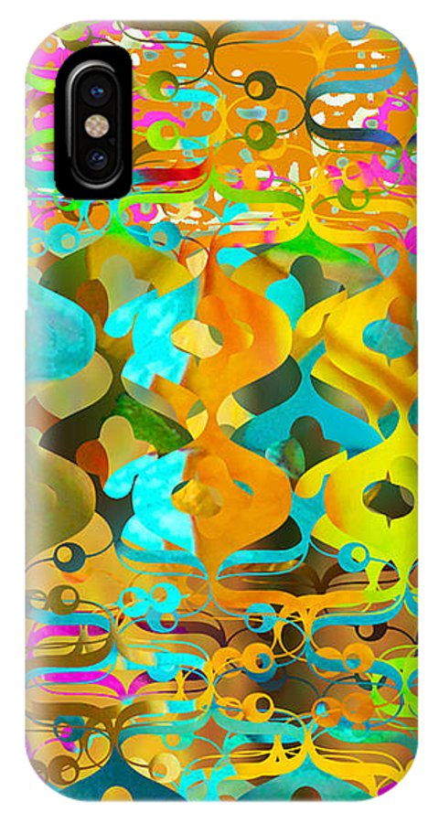 Abstract IPhone X Case featuring the digital art Nemo by Ceil Diskin