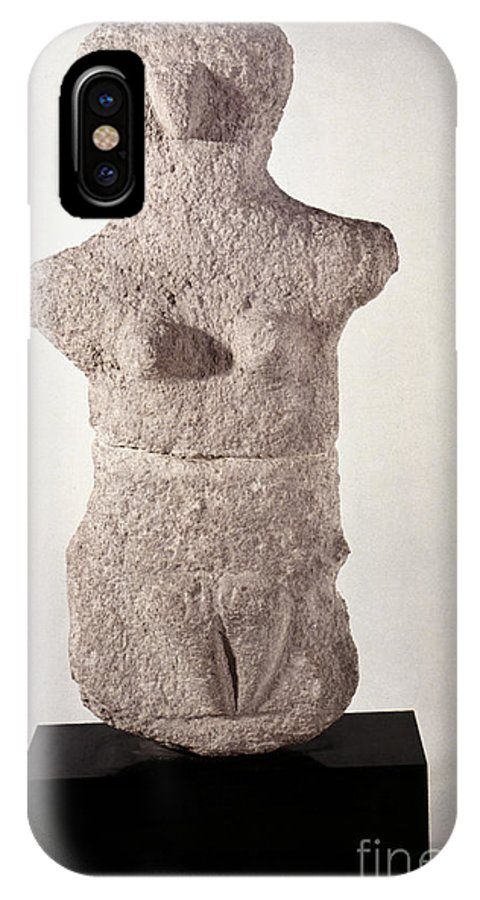 3500 B.c. IPhone X Case featuring the photograph Neolithic Figure by Granger