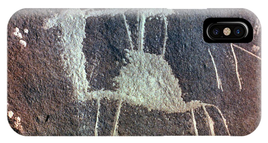 Camel IPhone X Case featuring the photograph Neolithic Petroglyph by Granger