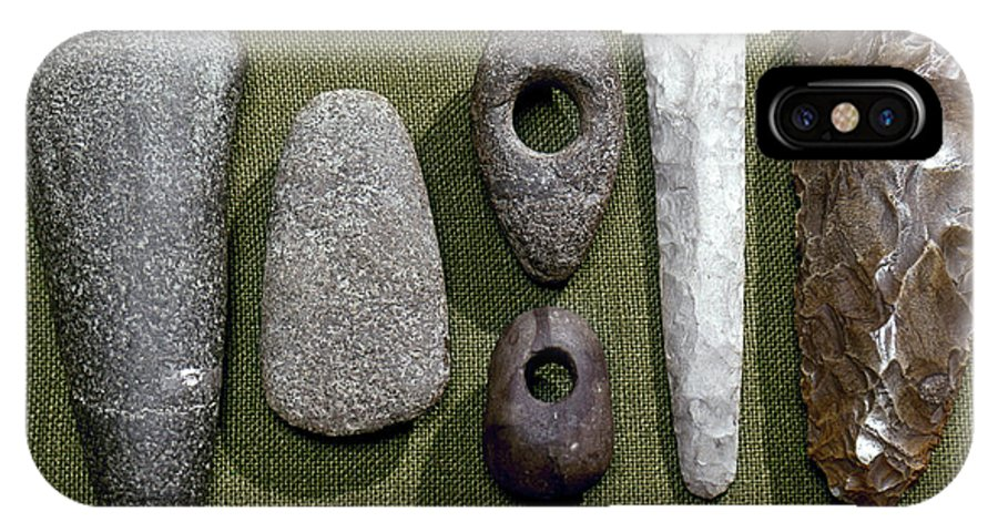 1800 B. C. IPhone X Case featuring the photograph Neolithic Tools by Granger